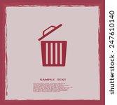 vector illustration of rubbish... | Shutterstock .eps vector #247610140