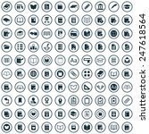 100 books icons big universal... | Shutterstock . vector #247618564