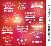 collection of st. valentine's... | Shutterstock . vector #247627246