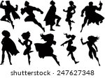 set of superhero black... | Shutterstock .eps vector #247627348