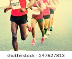 marathon running race  people... | Shutterstock . vector #247627813