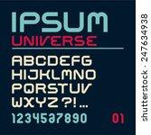 font. latin alphabet letters.... | Shutterstock .eps vector #247634938