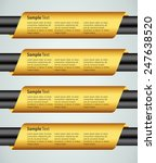 gold modern text box template... | Shutterstock .eps vector #247638520
