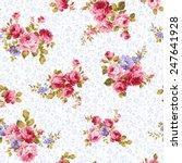 pattern of rose  | Shutterstock .eps vector #247641928