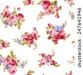 pattern of rose  | Shutterstock .eps vector #247641946