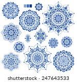 ornament material | Shutterstock .eps vector #247643533