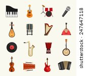 musical instruments icon set | Shutterstock .eps vector #247647118
