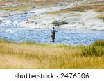 a fly fisherman in a fast... | Shutterstock . vector #2476506