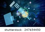 cosmos connection technology... | Shutterstock . vector #247654450