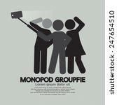 groupfie symbol  a group selfie ...   Shutterstock .eps vector #247654510