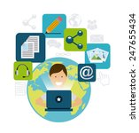 blog template design  vector... | Shutterstock .eps vector #247655434