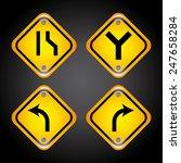 road signs design  vector... | Shutterstock .eps vector #247658284