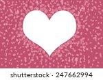 pretty pink hearts pattern... | Shutterstock . vector #247662994