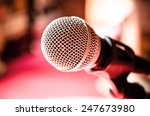 close up of microphone in... | Shutterstock . vector #247673980