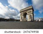 paris  champs elysees  arc de... | Shutterstock . vector #247674958