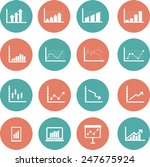 flat icons business charts and...