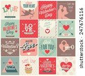 valentine s day set   emblems... | Shutterstock .eps vector #247676116