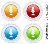 colorful round buttons with... | Shutterstock .eps vector #247676860