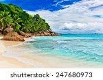 tropical beach. the seychelles | Shutterstock . vector #247680973