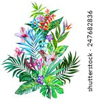 Exotic Flowers. Large Tropical...