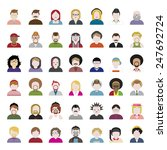 people diversity portrait... | Shutterstock .eps vector #247692724