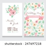 beautiful floral wedding... | Shutterstock .eps vector #247697218