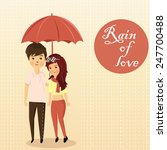 couples and rain | Shutterstock .eps vector #247700488