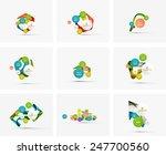 set of step infographics... | Shutterstock .eps vector #247700560