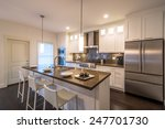 modern  bright  clean  kitchen... | Shutterstock . vector #247701730