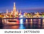 wat arun night view temple in... | Shutterstock . vector #247703650