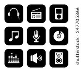 media icons set great for any... | Shutterstock .eps vector #247705366