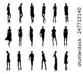set of bald style female... | Shutterstock .eps vector #247715140