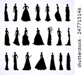 set of female silhouettes in... | Shutterstock .eps vector #247715146