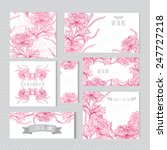 elegant cards with decorative... | Shutterstock . vector #247727218