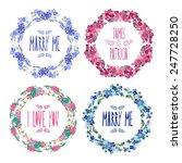 elegant floral frames  design...   Shutterstock . vector #247728250