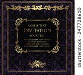 invitation with frame on... | Shutterstock .eps vector #247728610