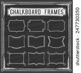 a set of chalkboard frames  ...   Shutterstock .eps vector #247730350
