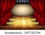 theater stage with red curtain... | Shutterstock .eps vector #247731754