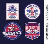 motorcycle emblem sets... | Shutterstock .eps vector #247732858
