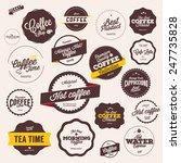 set of vintage retro coffee... | Shutterstock .eps vector #247735828
