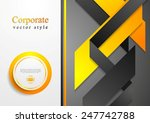 abstract corporate tech flyer... | Shutterstock .eps vector #247742788