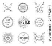 set of vintage hipster badge... | Shutterstock .eps vector #247742944