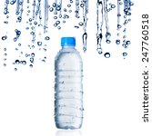 water bottle with water droplets | Shutterstock . vector #247760518