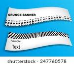grunge banner set . vector...