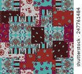 seamless paisley pattern for... | Shutterstock . vector #247761484