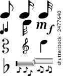 music symbols1 collection of... | Shutterstock .eps vector #2477640