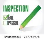 fail inspection check list... | Shutterstock .eps vector #247764976