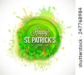 happy st. patrick's day... | Shutterstock .eps vector #247768984