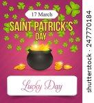 happy saint patricks day  ... | Shutterstock .eps vector #247770184
