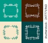 vector set of floral  frames in ... | Shutterstock .eps vector #247771963